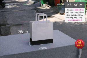 Túi giấy kraft trắng đựng đồ thời trang nam nữ - Sọc đen