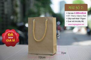 Túi giấy Kraft size S