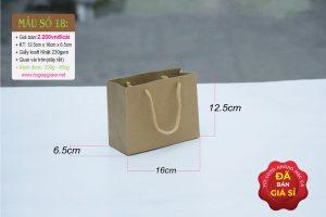 Túi giấy kraft ngang mini