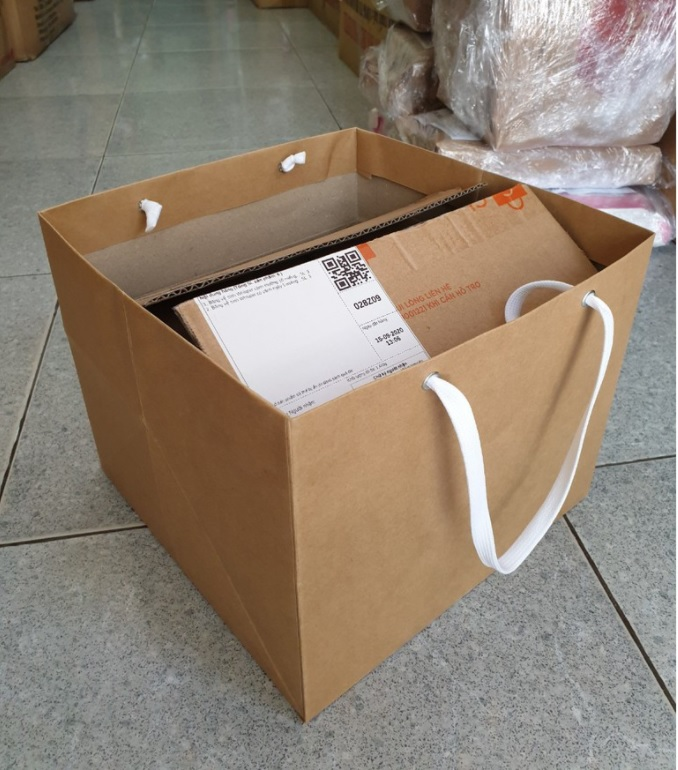 Túi đáy vuông 26cm