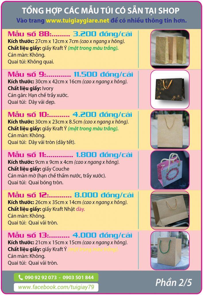 Túi giấy có sẵn tại shop Túi giấy giá rẻ