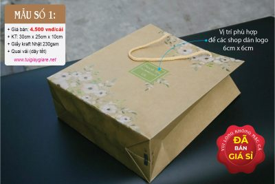 Túi được làm từ giấy kraft, dễ phân hủy trong môi trường tự nhiên