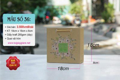 Túi được làm từ giấy kraft Nhật, rất chắc chắn
