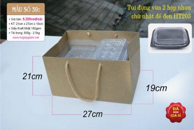 Túi giấy đụng hộp thức ăn
