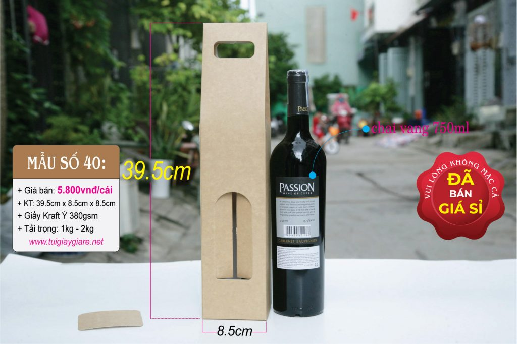 Hộp đựng rượu vang 750ml