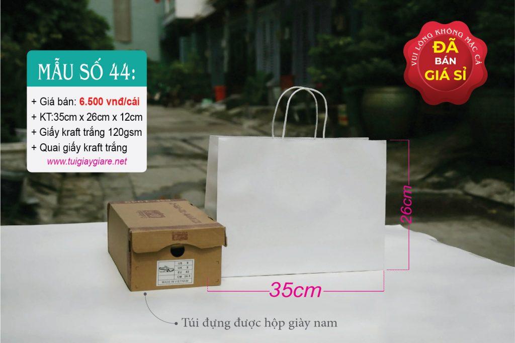 Túi kraft trắng kiểu ngang
