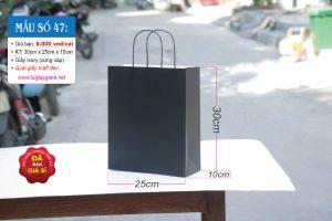 Túi giấy đen cao cấp