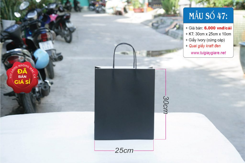Túi giấy đen A4 cao cấp