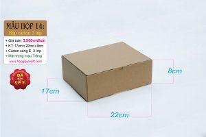 Hộp carton 3 lớp sóng E