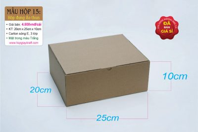 Hộp giấy carton đựng áo thun
