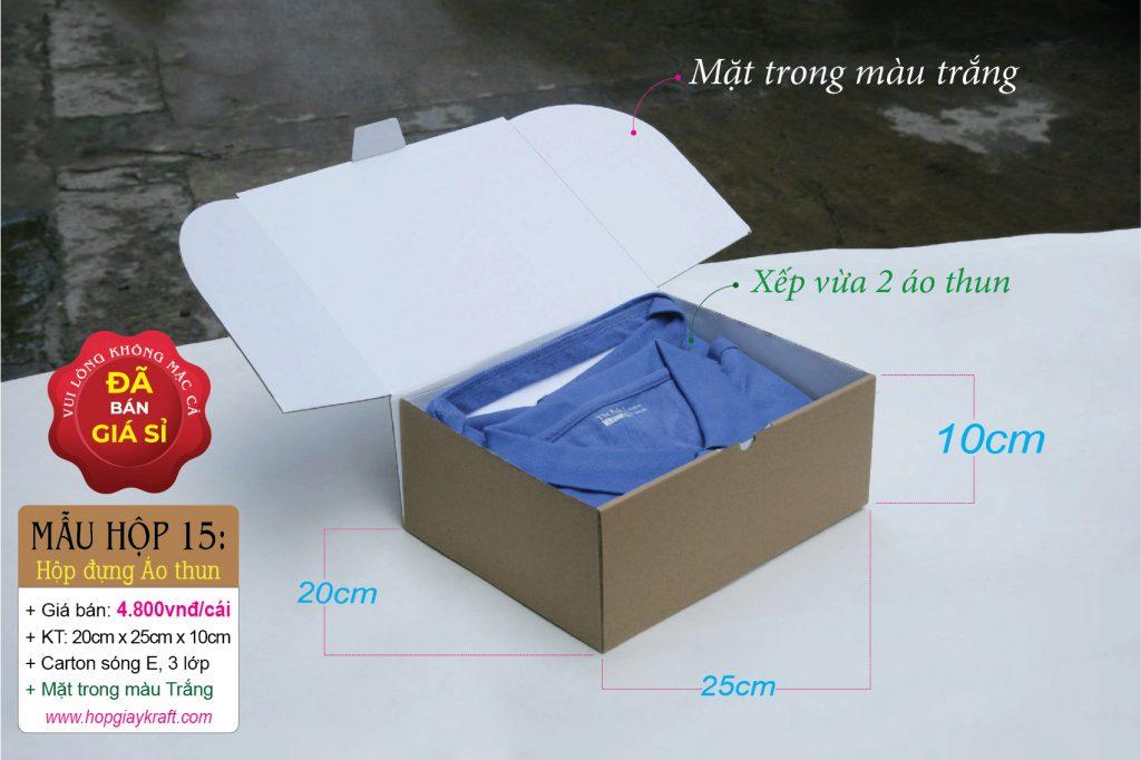 Hộp giấy đựng áo thun