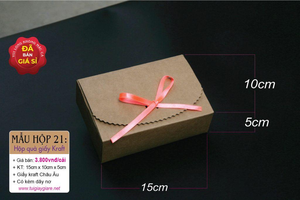 Hộp giấy kraft đựng quà tặng