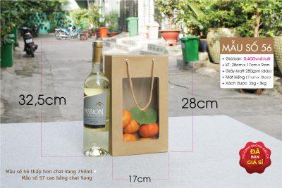 Túi đựng 2 chai mật ong, mật nho