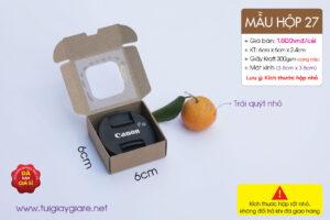 Hộp giấy siêu mini đựng hộp 1gr saffron