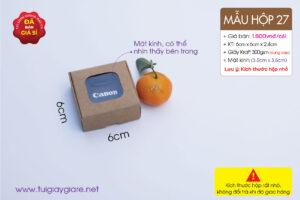 Hộp giấy siêu mini, hộp giấy kraft xếp có mặt kính đựng sản phẩm nhỏ gọn
