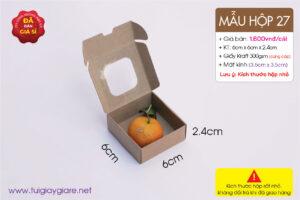 Hộp giấy mini đựng saffron